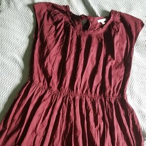 Burgandy flirty lauren conrad dress